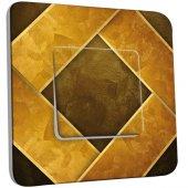 Interrupteur Décoré Simple Abstrait doré