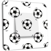 Interrupteur Décoré Simple Ballon de foot Black&White