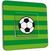 Interrupteur Décoré Simple Ballon de foot Fond vert