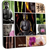 Interrupteur Décoré Simple Bouddha  Zen 4