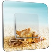Interrupteur Décoré Simple Coquillages Etoile de mer 10