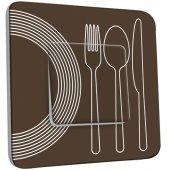 Interrupteur Décoré Simple Cuisine Couverts Design  1