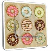 Interrupteur Décoré Simple Cuisine Gâteaux Donuts