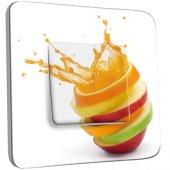 Interrupteur Décoré Simple Cuisine Life style Fruits