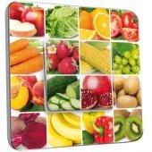 Interrupteur Décoré Simple Cuisine Damier Fruit et légume