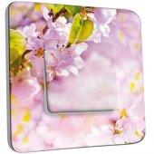 Interrupteur Décoré Simple Fleurs de cerisier