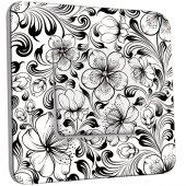 Interrupteur Décoré Simple Fleurs design Black&White