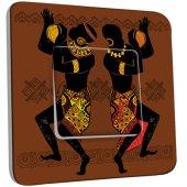 Interrupteur Décoré Simple Motif Africain Design 1