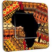 Interrupteur Décoré Simple Motif Africain Design 2
