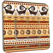 Interrupteur Décoré Simple Motif Africain Design 3