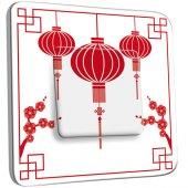 Interrupteur Décoré Simple Motif Chinois Lampions 1