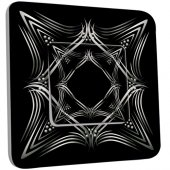 Interrupteur Décoré Simple Motif Oriental Black&White 4