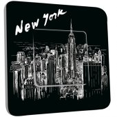 Interrupteur Décoré Simple New York  Black&White 1