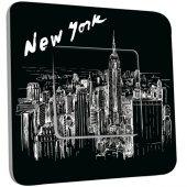 Interrupteur Décoré Simple New York  Black&White 1