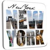Interrupteur Décoré Simple New York Lettres 1