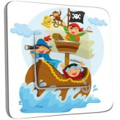 Interrupteur Décoré Simple Pirates Enfant 1