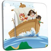 Interrupteur Décoré Simple Pirates Enfant 2