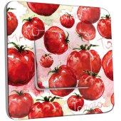 Interrupteur Décoré Simple Tomates Peinture