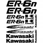 Kawasaki ER-6n Aufkleber-Set