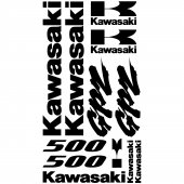 Kawasaki GPZ 500 Aufkleber-Set