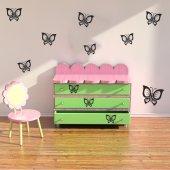 Kit 21 stickers papillon