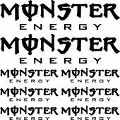 Kit Adesivo monster energy