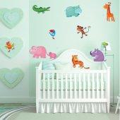 Kit Adesivo Murale bambini 11 animali