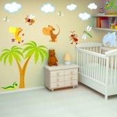 Kit Adesivo Murale bambini animali