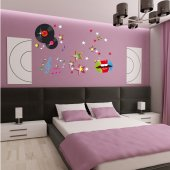 Kit Adesivo Murale   disco