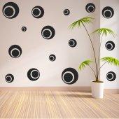 Kit Autocolante decorativo  30 círculos