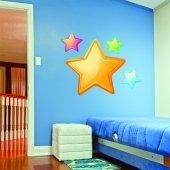 Kit Autocolante decorativo infantil 4 estrelas