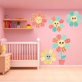 Kit Autocolante decorativo infantil 5 flores