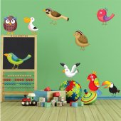Kit Autocolante decorativo infantil 9 Animais