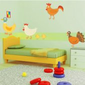 Kit Autocolante decorativo infantil Animais