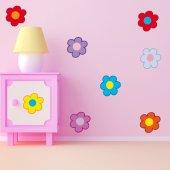 Kit Autocolante decorativo infantil flores