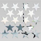 kit Espelho Decorativo   estrelas