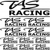 kit pegatinas tas racing