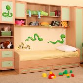Autocollant Stickers enfant kit 4 serpents