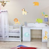 Autocollant Stickers enfant kit 8 animaux