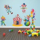 Autocollant Stickers enfant kit 8 clowns