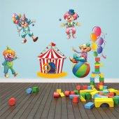 Autocollant Stickers enfant kit 8 clowns