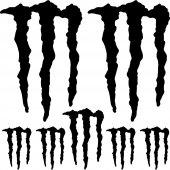 Kit stickers monster energy