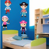 Autocollant Stickers enfant kit 4 pirates