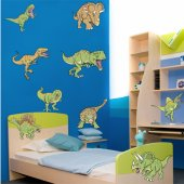 Kit Vinilo decorativo infantil 10 dinosaurios