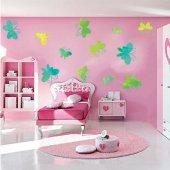 Kit Vinilo decorativo infantil 14 mariposas