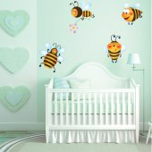 Kit Vinilo decorativo infantil 4 abejas