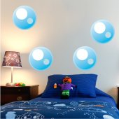Kit Vinilo decorativo infantil 4 burbujas