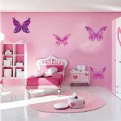 Kit Vinilo decorativo infantil 4 mariposas