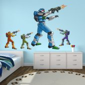 Kit Vinilo decorativo infantil 4 robots