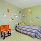 Kit Vinilo decorativo infantil 9 animales